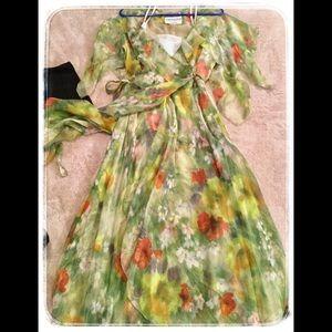 Vintage Adolfo New York Floral Dress.
